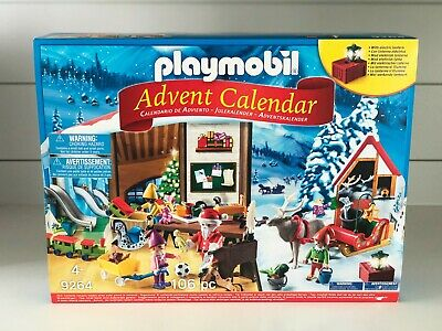 Playmobil Advent Calendar Santa's Workshop 106 pcs NIB Sealed 9264