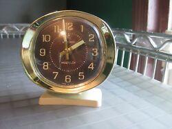 Vintage Westclox Big Ben Wind-up Alarm Clock Round Face Mid-Century Modern