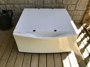 White pedestal for Kenmore washer/dryer