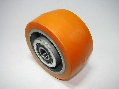 6 X 3 Orange Poly Caster Dolly Wheel - 78 Shaftaxle