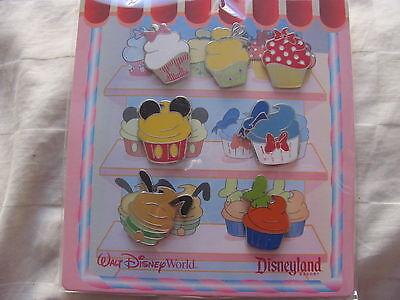Disney Trading Pins 82947 Character Cupcake - Mini-Pin Set