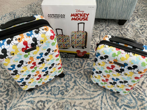 American Tourister Luggage Disney Carry On 2-piece Set, Mick