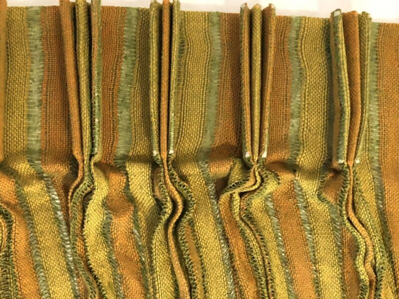 "Vintage Mid-Century 1960-1970s 236"" WIDE Open Weave Drapery Panel Boho Cool"