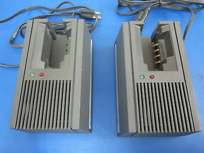 Lot Of 2 Motorola Single Charging Stations Model Nln8858 Mxstx Battery