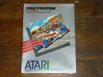 Pole Position for Atari Home Computers Cartridge, new and sealed NOS