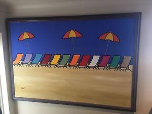 "Blubberg original. ""Deck chairs in Beach"" Cronulla Sutherland Area Preview"