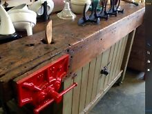 VERY RUSTIC KITCHEN WORKBENCH WITH CUPBOARDS Hobart CBD Hobart City Preview