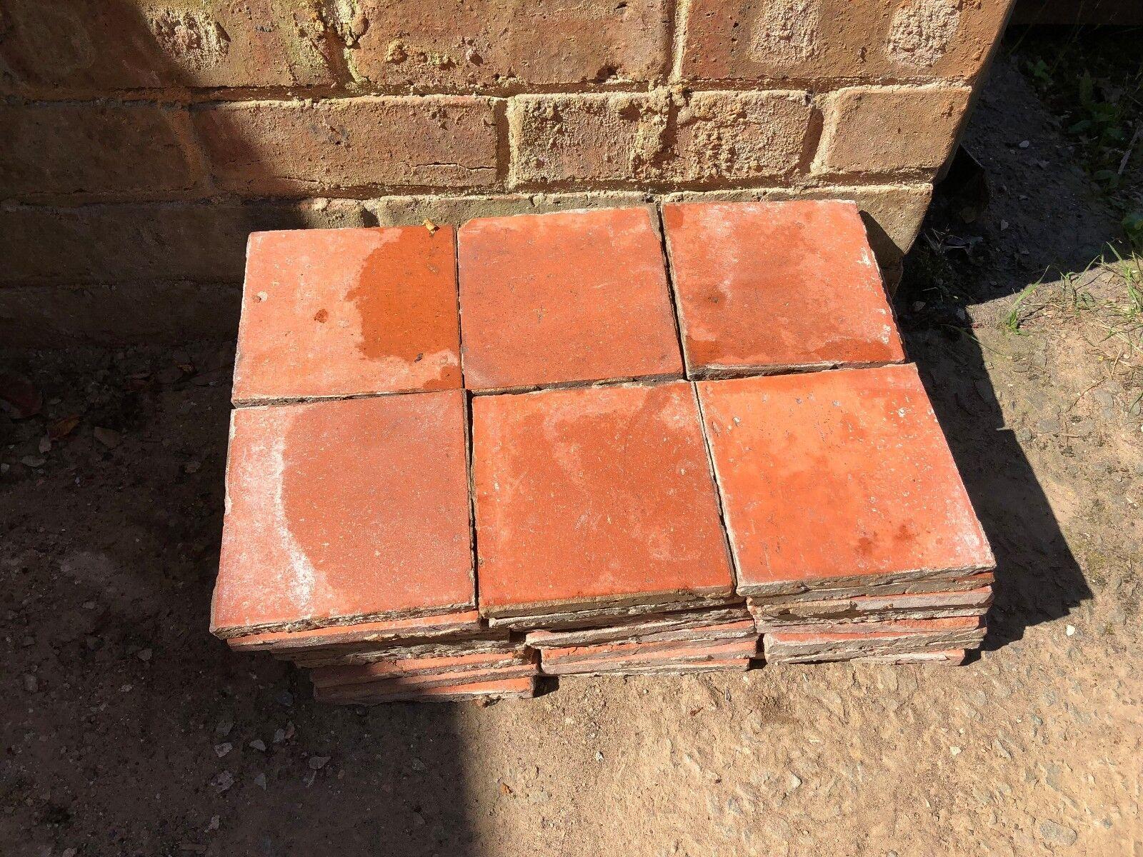 Red J C Edwards of Ruabon reclaimed Quarry floor tiles.