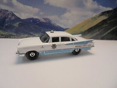 59 DODGE CORONET POLICE CAR   2020 Matchbox MBX Countryside Series     White