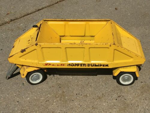 Vintage Nylint Metal Tandom ONLY Hopper Dumper - Bottom Dump