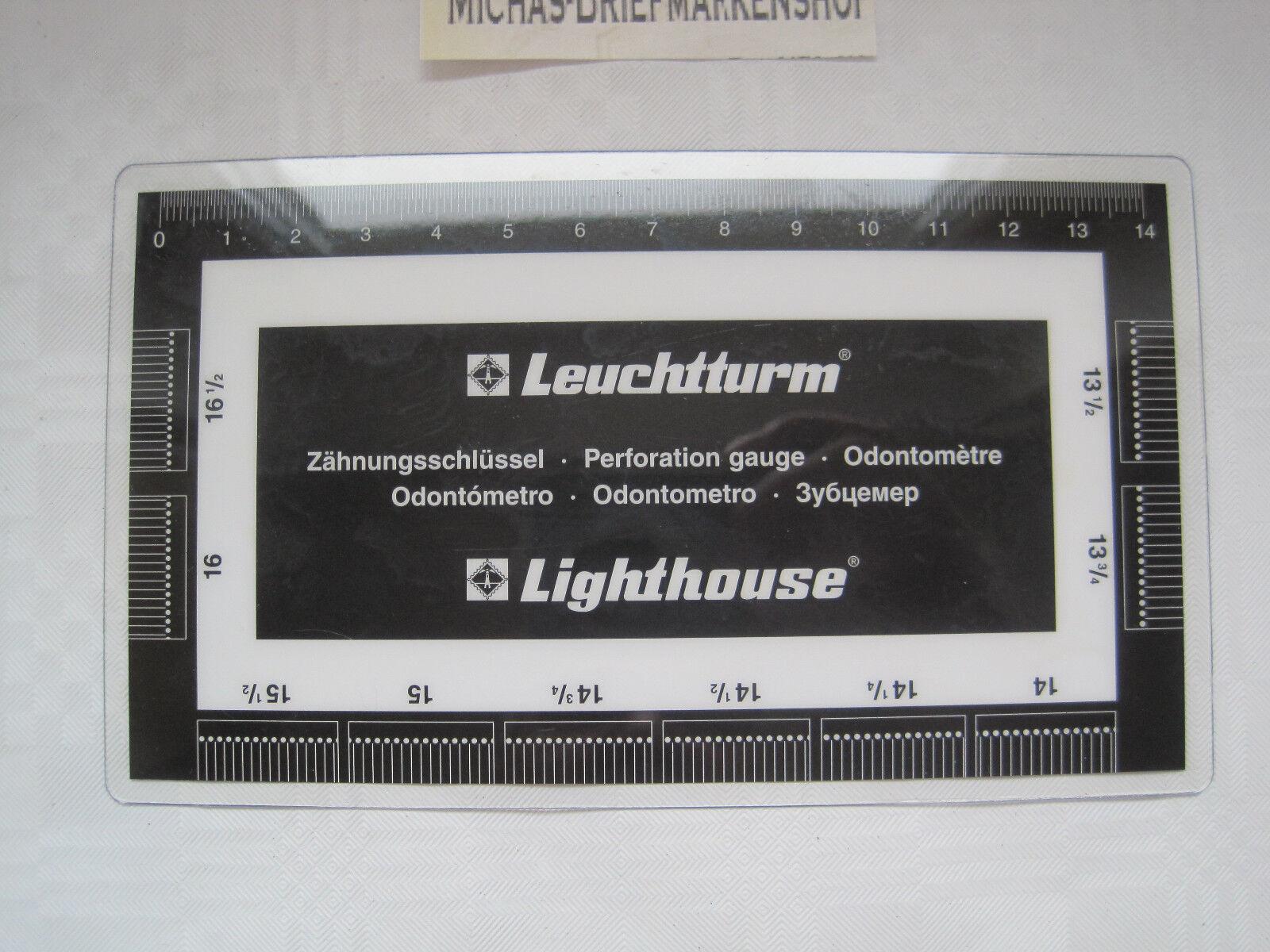 Leuchtturm Zähnungsschlüssel  (320180)