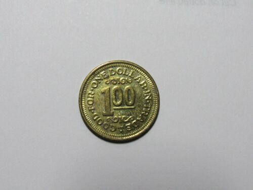 Old Car Wash Token - Good For One Dollar in Trade - Bronze - HM, thin letters
