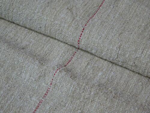 Antique European Feed Sack GRAIN SACK Red Stripe # 8952