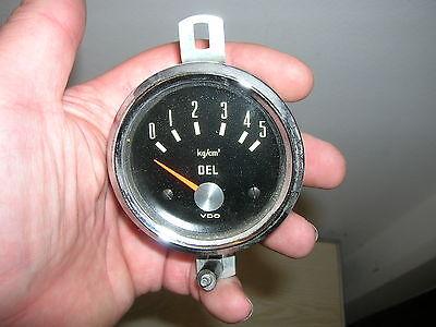 """60er Jahre - VDO Öldruckanzeige """"Chromring"""" - 60mm Einbaudurchmesser"""