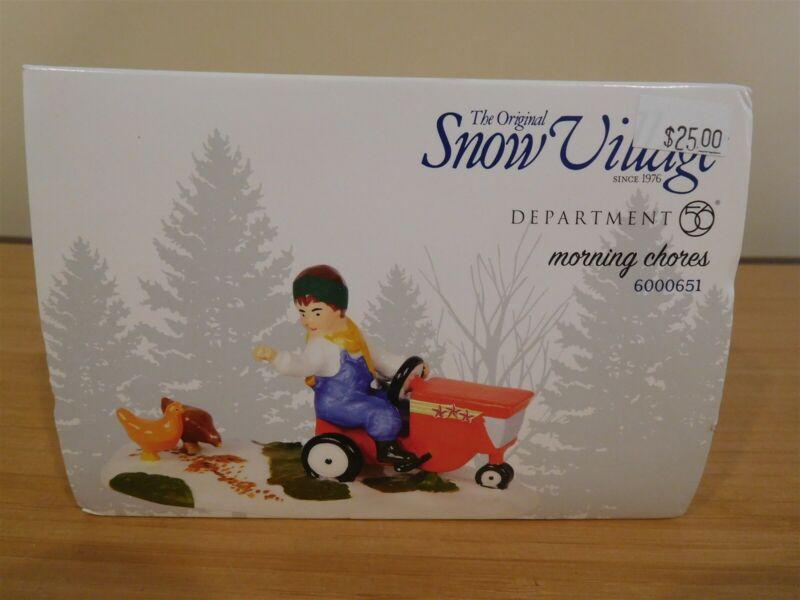 Dept 56 Snow Village Accessory - Morning Chores - NIB Free Shipping