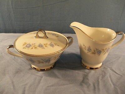 Lennold Fine China Japan Creamer & Covered Sugar Bowl Set - 1812 Rhapsody  Fine China Covered Sugar Bowl