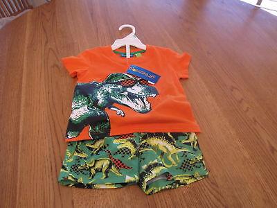 Green Dog Baby 18M 18 Monate MO Badehose T-Shirt 2 PC Satz Junge Orange Neu