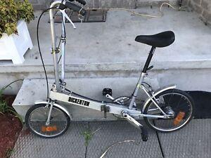 Bickerton Folding Portable Bike