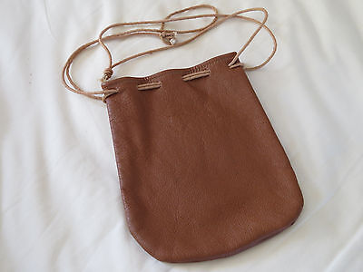 A EXCELLENT LIGHT TAN SOFT  LEATHER  POKEY REEL BAG will hold a Hardy Salmon no2