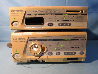 Olympus Otv-s7 Endoscopy Camera Processor Clv-s40 Xenon 300 Watt Light Source