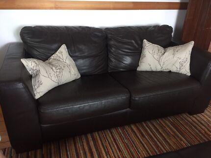 Bay Leather Republic sofa bed plus ottoman