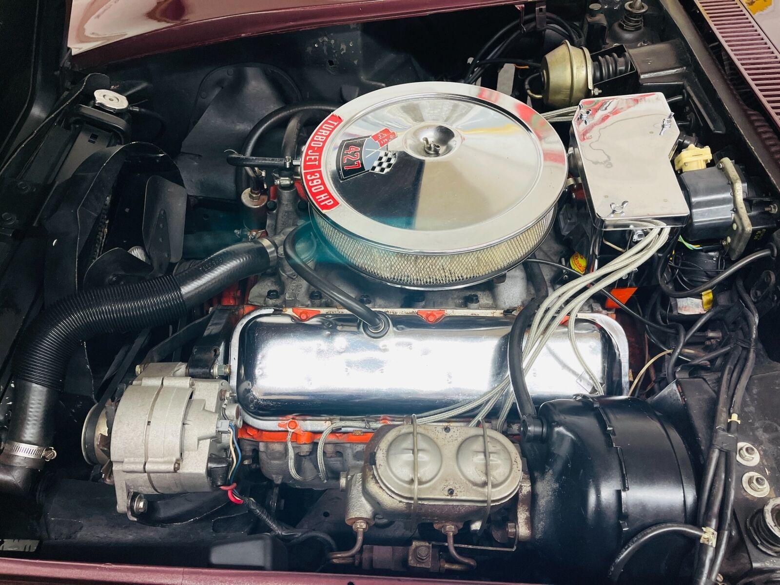 1968 Burgundy Chevrolet Corvette   | C3 Corvette Photo 8