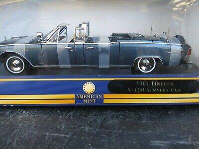 "Premium Edition American Mint ""1961 Lincoln X-100 Kennedy Car"" Die Cast"