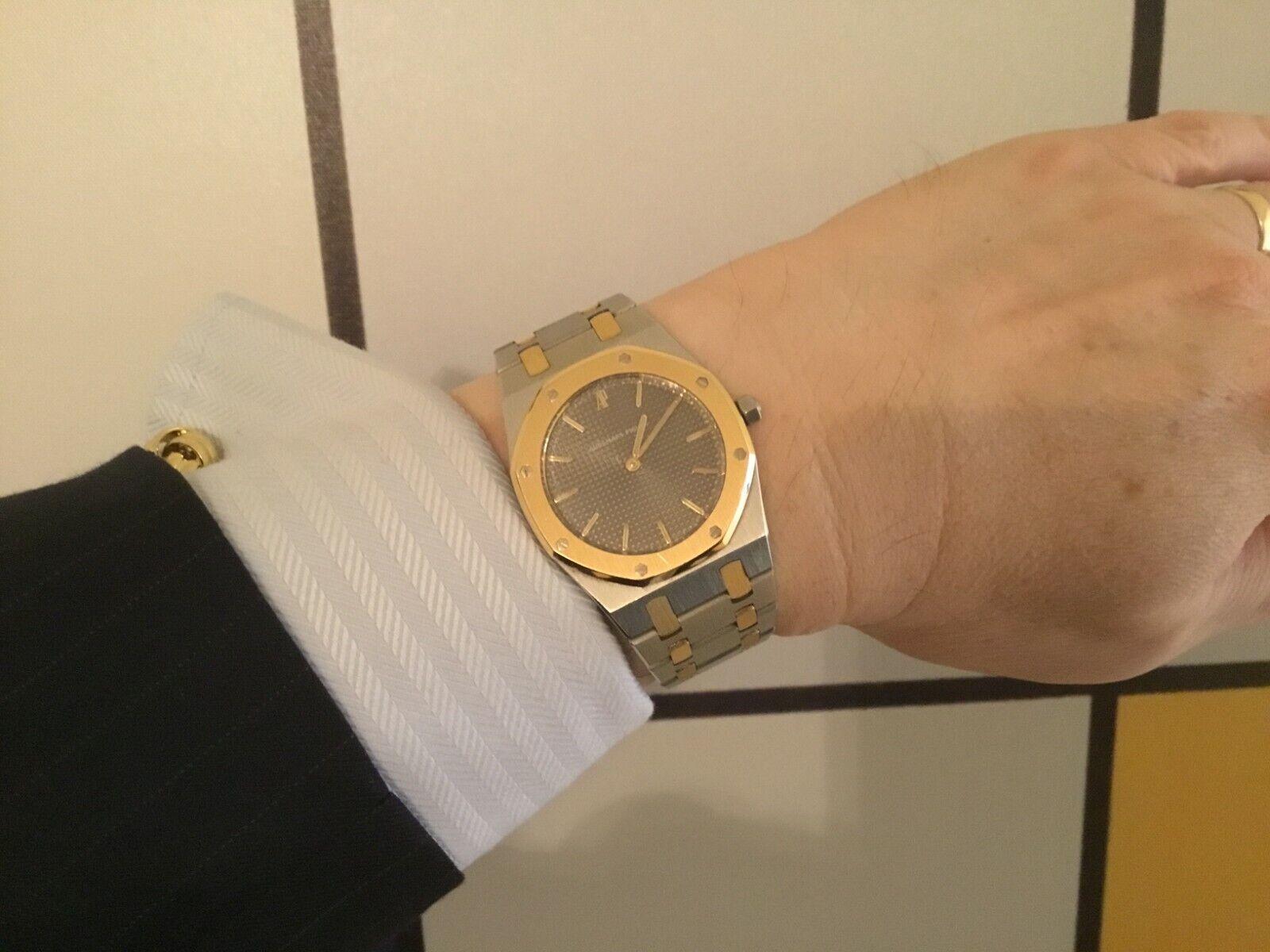AUDEMARS PIGUET ROYAL OAK REF 56303SA TT STEEL 18K YELLOW GOLD WRISTWATCH W/BOX - watch picture 1