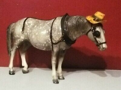 Beautiful Vintage Breyer Appaloosa Horse with hat beautiful gray colors