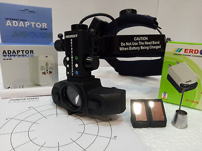 Rechargable Wireless Indirect Ophthalmoscope Carry Bag Accessories Optometry
