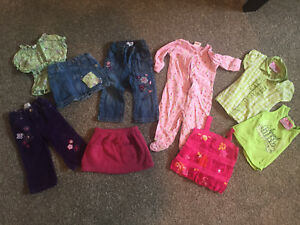 Girls 12 month bag of clothes