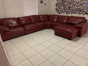 Large Leather Lounge