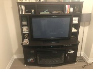 Tv stand / wall unit with electric fireplace