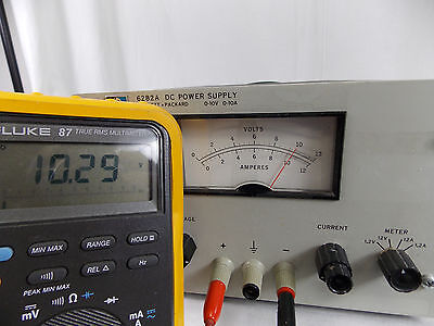 Hp Agilent Model 6282a Dc Power Supply 0-10v 0-10a Tested