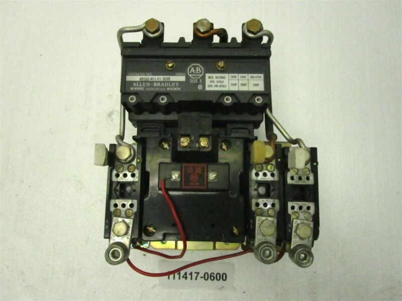 Allen Bradley 40103-401-01-3036 Magnetic Starter From MCC Bucket 709-DOD-103
