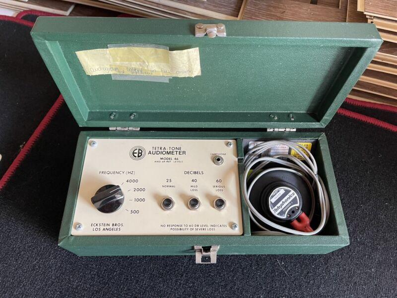 R174446 EB Eckstein Bros Tetra-Tone Audiometer Model 46 ANSI-69-REF Levels