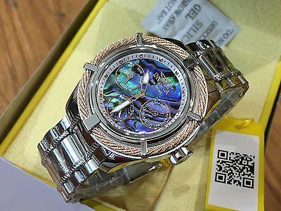 24453 Invicta Women's Bolt Quartz Multi Function Abalone Dial SS Bracelet Watch