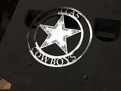 Cowboys round metal Sign mancave/ Wall - Cowboy Wall Decor