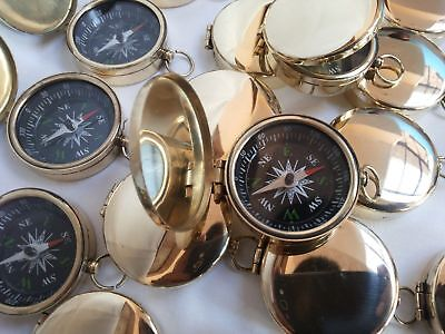 Brass Vintage Pocket Compass 45mm Lot Of 50 Pcs Marine Collectible