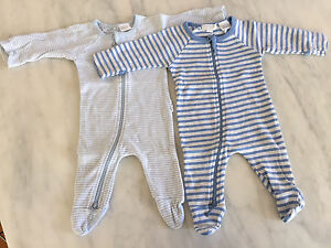Newborn Size 0000 PURE BABY Boys Onesies with zip New Farm Brisbane North East Preview