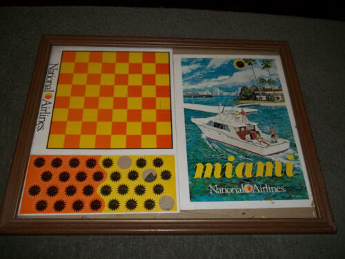 1960s NATIONAL AIRLINES Advertising Game Pieces