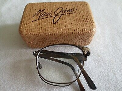 Maui Jim Stillwater bronze folding glasses frames. With case. MJ (Folding Glasses Frames)