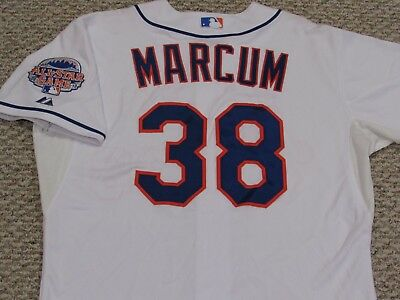 d203aa9a2 MARCUM size 48  38 2013 New York Mets game jersey home white issued MLB  HOLOGRAM