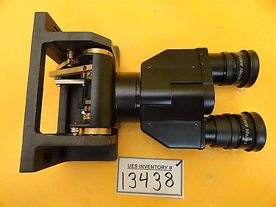 Nikon Optistation 3 Binocular Eyepiece Microscope Assembly Cfuwn 10x26.5 Used