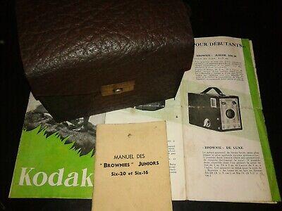 Kodak Brownie junior six-20 + catalogue 1936,+ mode d'emploi.