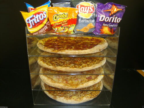 """305Displays 14"""" Pizza Showcase Retail Store Acrylic Display Cases"""