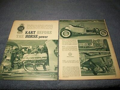 "Used, 1924 Ford T-Bucket Vintage Street Rod Article ""Kart Before the Horse Power"" for sale  Livermore"