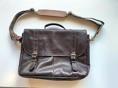 Samsonite Brown Leather Briefcase Computer Bag