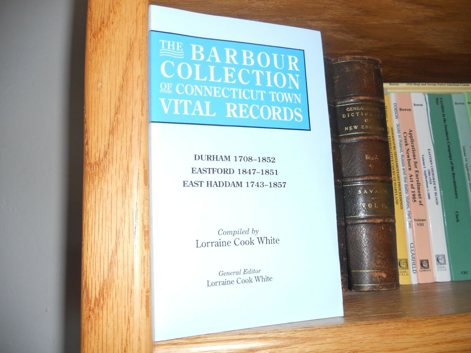 Barbour Connecticut Town Records Durham Eastford East Haddam - $24.99