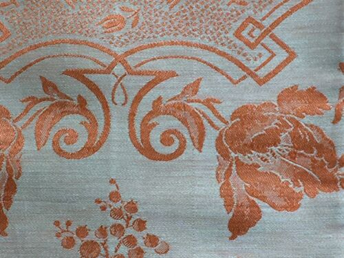 Lovely Vintage French Linen Orange Damask Napkins S/6 25 x 25 South of France